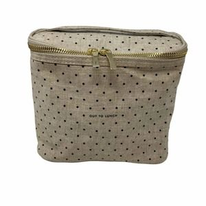 Kate Spade Out To Lunch Tan Polka Dot Tote